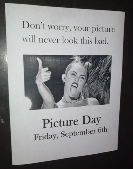 Don't worry on picture day…