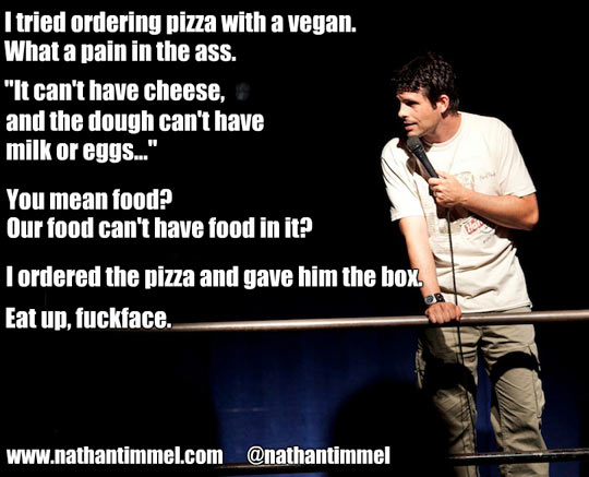 Eating with vegans…