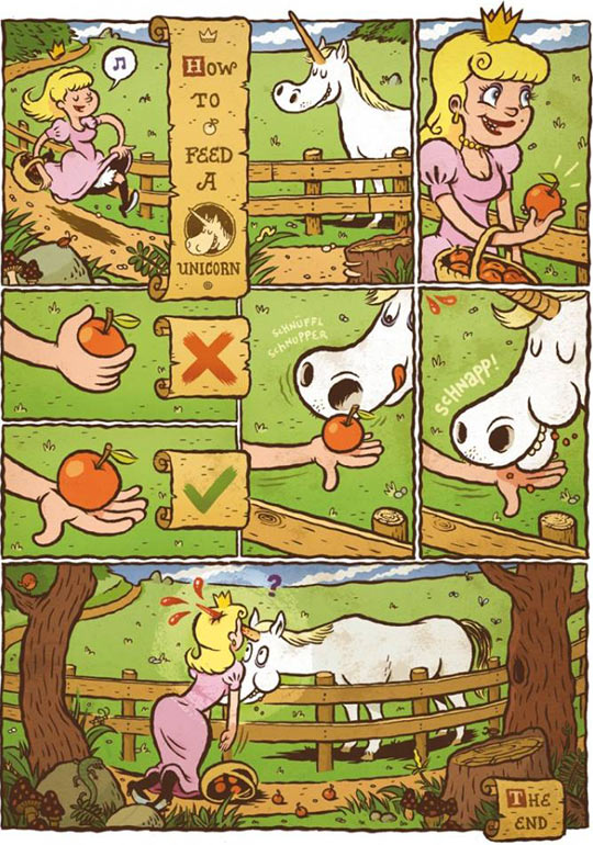 How to feed a unicorn…