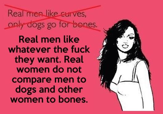 Curves, men and bones…