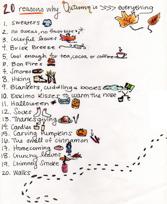 Reasons why autumn is awesome…