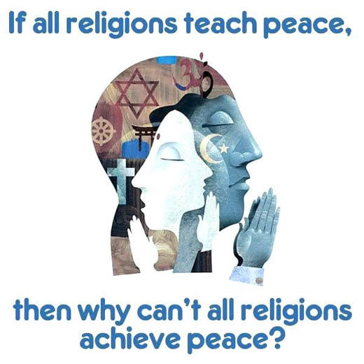 When religions teach about peace…