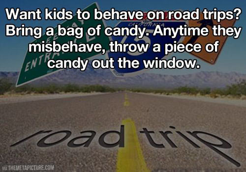 Dealing with kids on road trips…