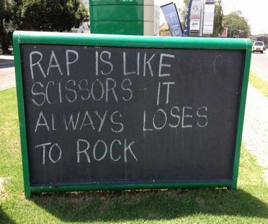Rap is like scissors…