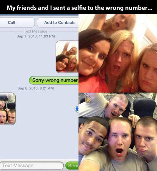 Selfie to the wrong number…