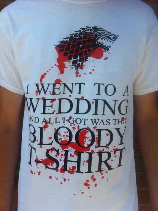 I went to a wedding…