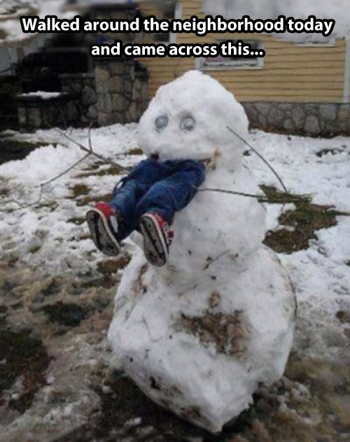 funny-snowman-eating-child