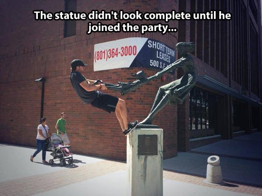 The statue is now complete…