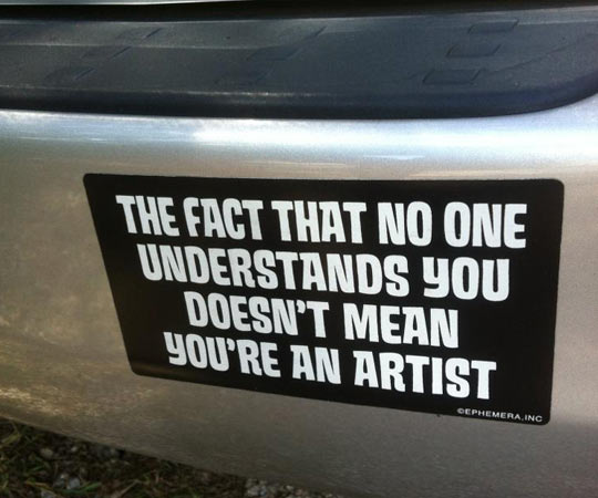 Bumper sticker wisdom…