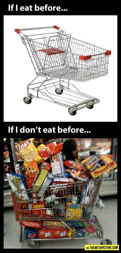 At the supermarket…