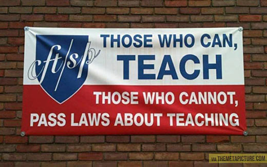 Shout out to all the great teachers out there…