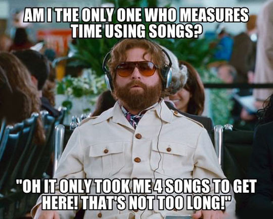 Measuring time using songs…