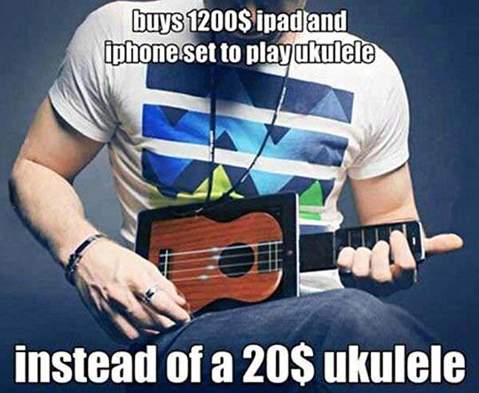 Hipsters' ukulele…