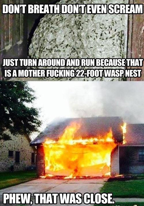 Turn around and run…