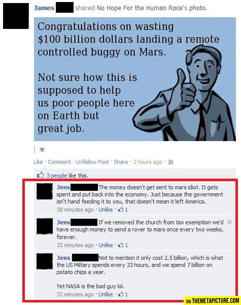So, NASA is the bad guy?