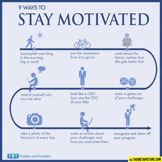 Ways to stay motivated…