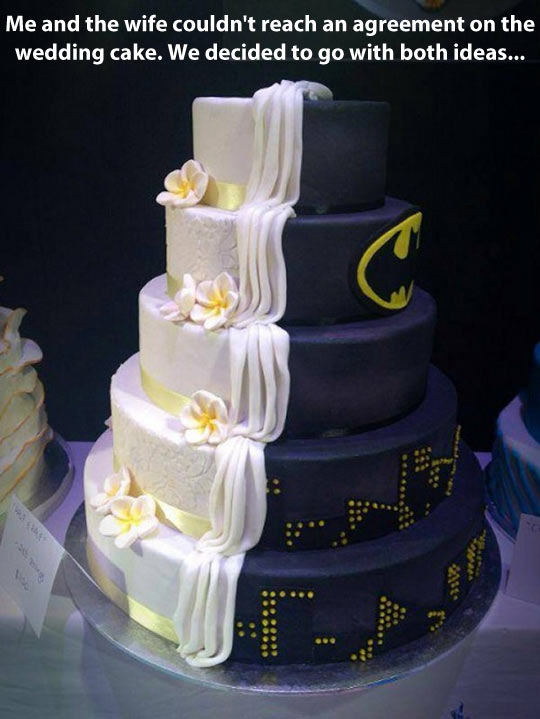 By day just an ordinary cake, by night a special one…