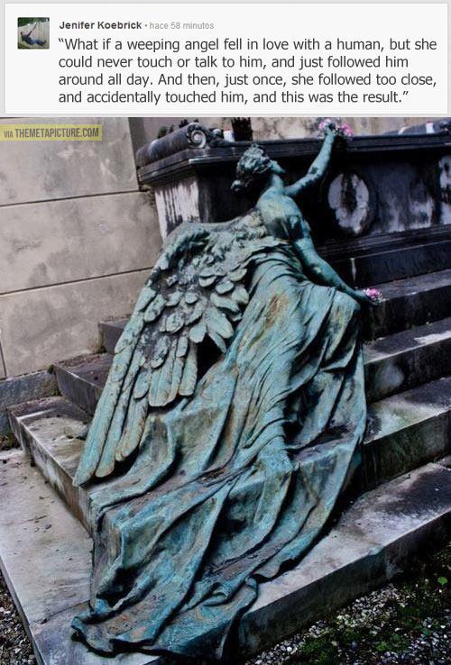 Weeping angel sadness…