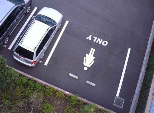Women's only parking space…
