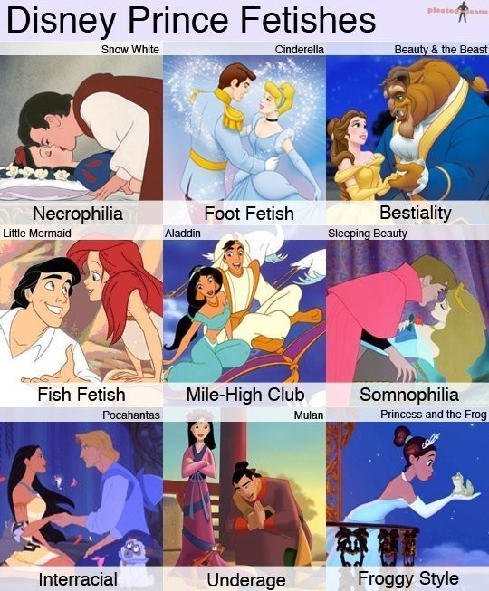 All The Disney Prince Has Some Weird Fetishes...