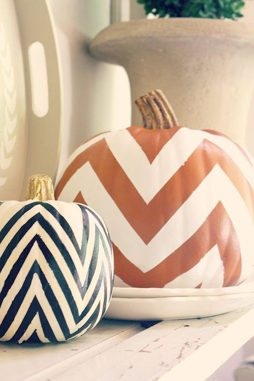 Expectation - Chevron painting pumpkins.