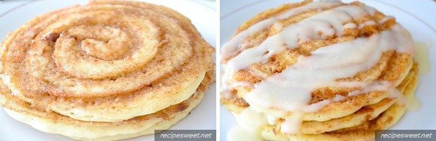 Expectation - Cinnamon roll pancakes.