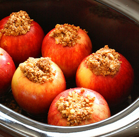 Expectation - Crock-pot baked apples.