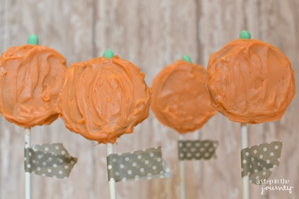 Expectation - Oreo pumpkin pops.