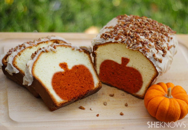 Expectation - Surprise pumpkin pound cake.