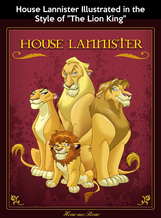 HOUSE LANNISTER - LION KING STYLE