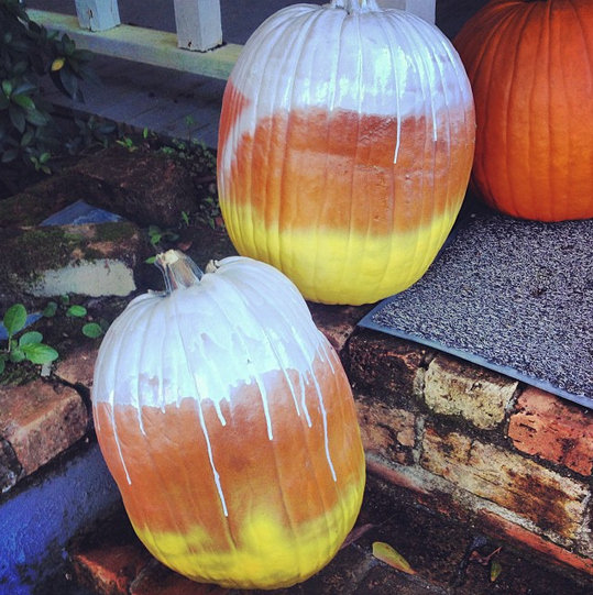Reality - Candy corn pumpkins.