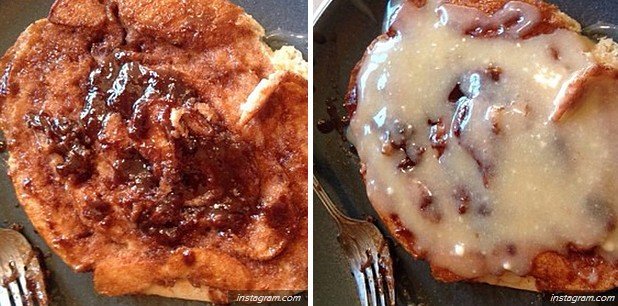 Reality - Cinnamon roll pancakes.