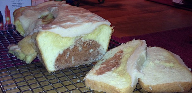 Reality - Surprise pumpkin pound cake.