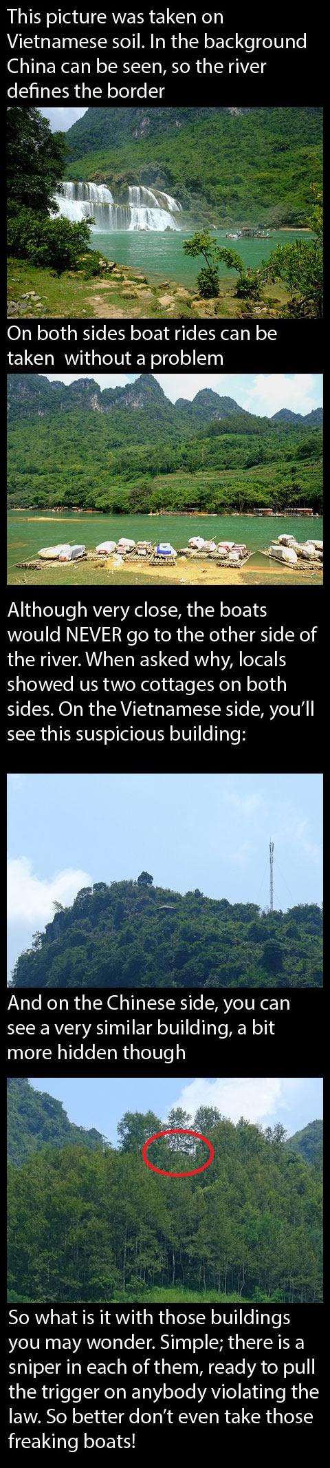 Vietnam-China-river-border-boats
