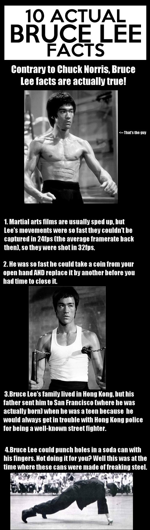 Actual Bruce Lee Facts...