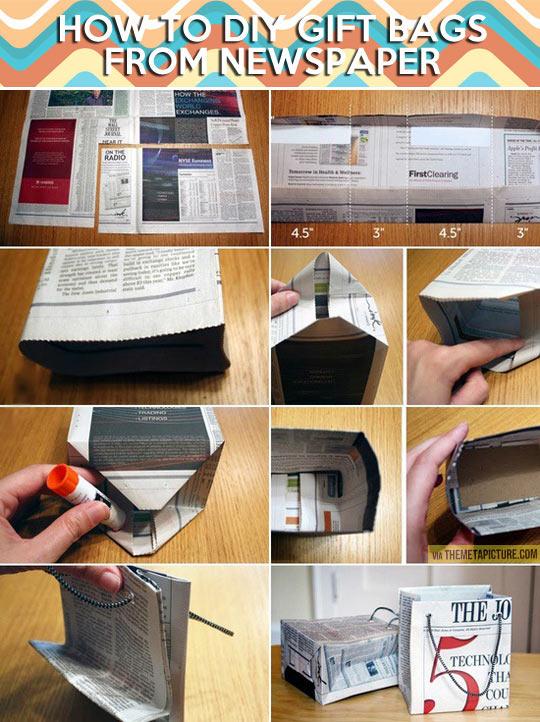 Как сделать подарок своими руками из газеты