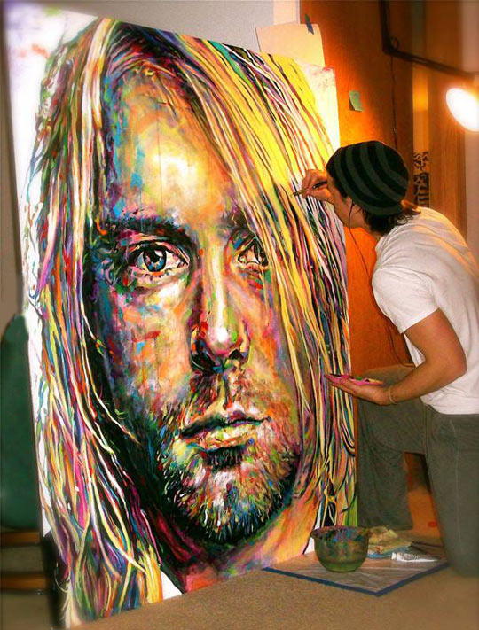 A perfect painting of kurt cobain for Perfect paint