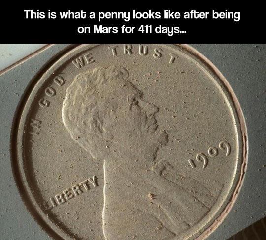 Martian penny…
