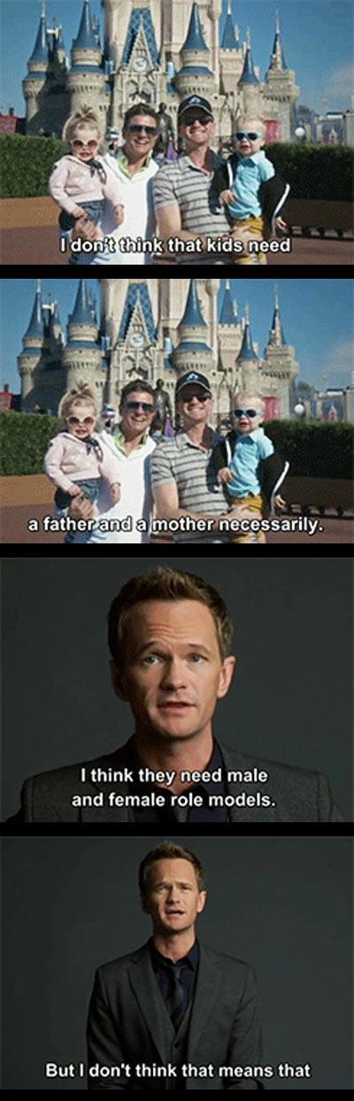 Neil Patrick Harris on gay adoptions...