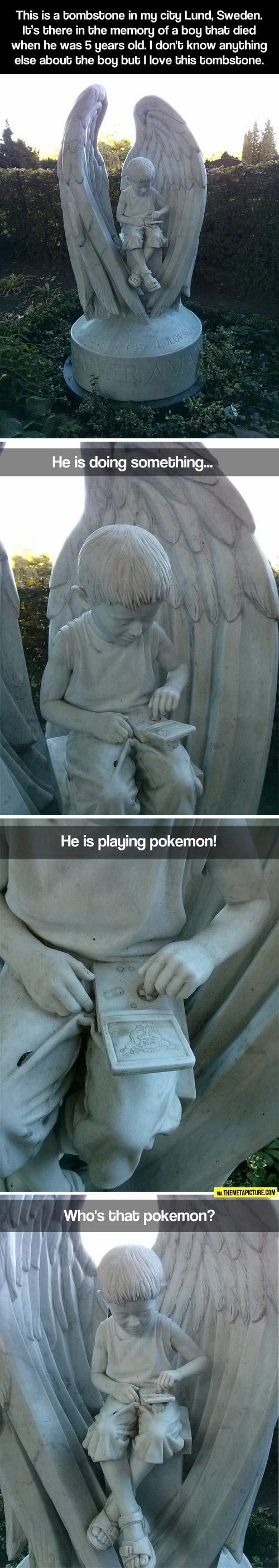 Amazing tombstone...