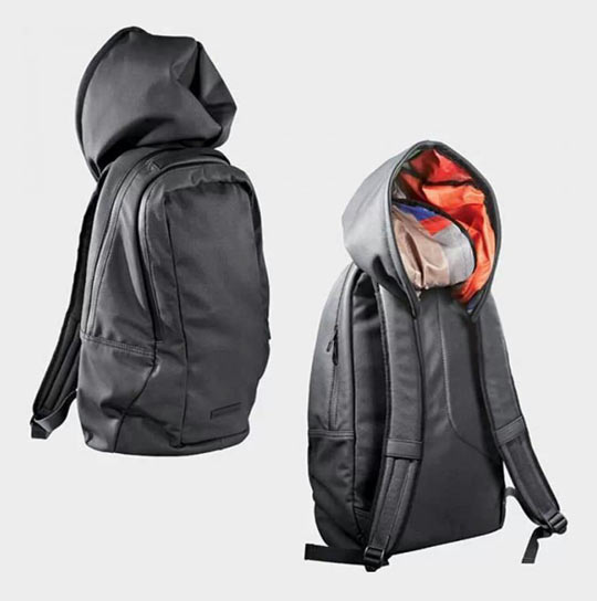 The backpack hoodie…