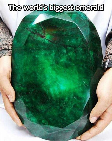 Biggest emerald in the world…
