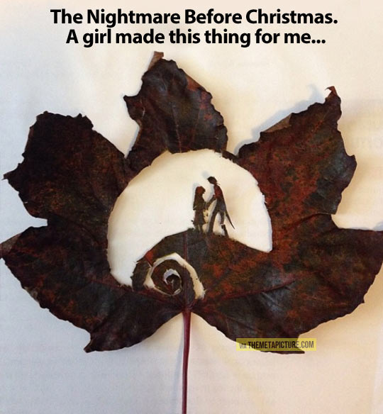 Funny Nightmare Before Christmas Memes.The Nightmare Before Christmas In A Leaf