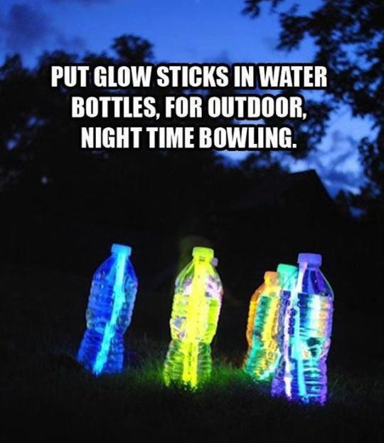 cool-glow-sticks-water-bottles-bowling