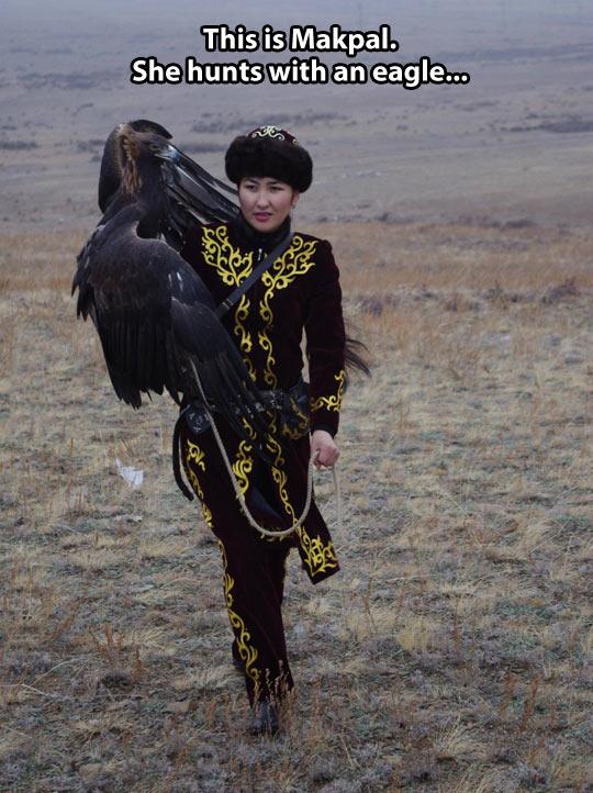 The eagle hunter…