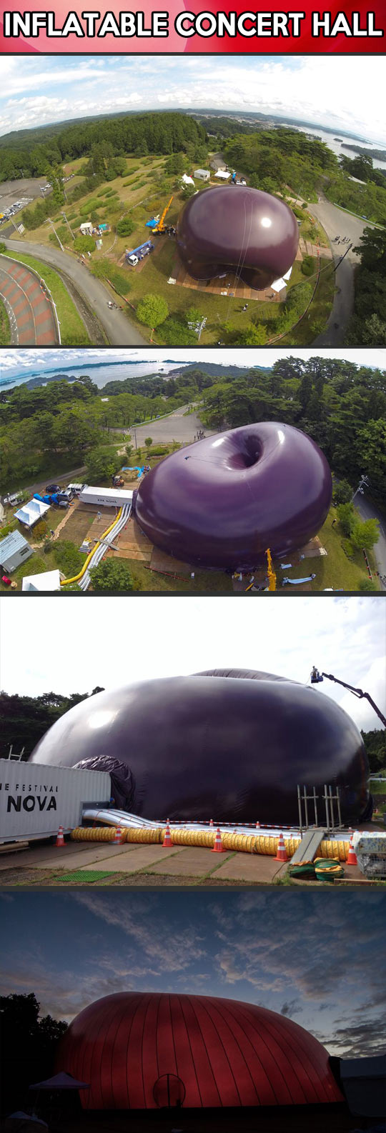 World s first inflatable concert hall for Inflatable concert hall