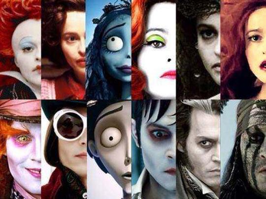 cool-many-faces-Johnny-Depp-Helena-Bonham-Carter