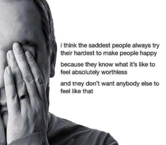 Sad people always try their hardest…
