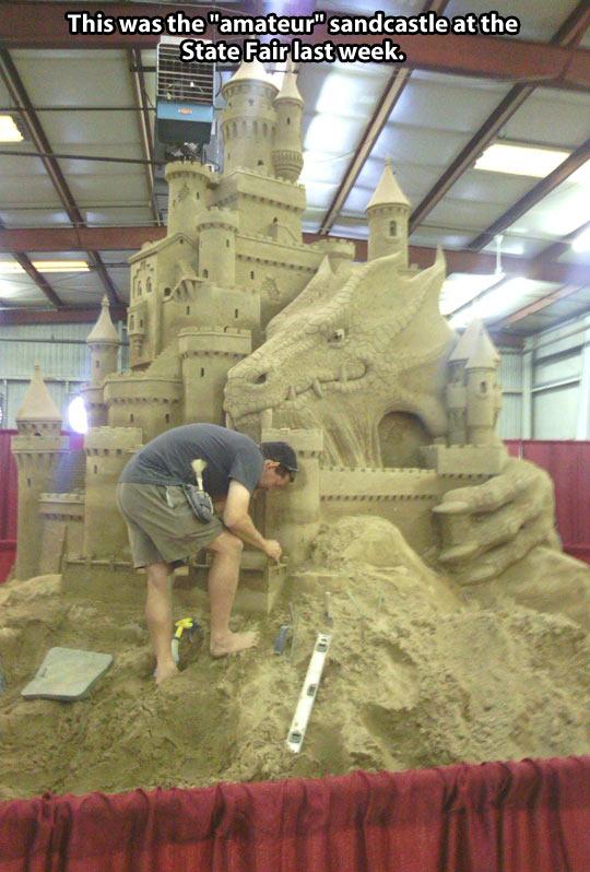 Amateur sandcastle…