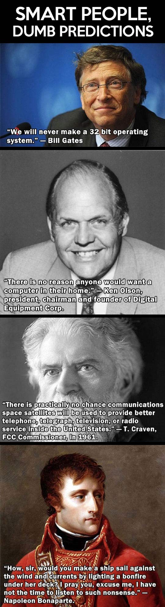 Smart people, dumb predictions...